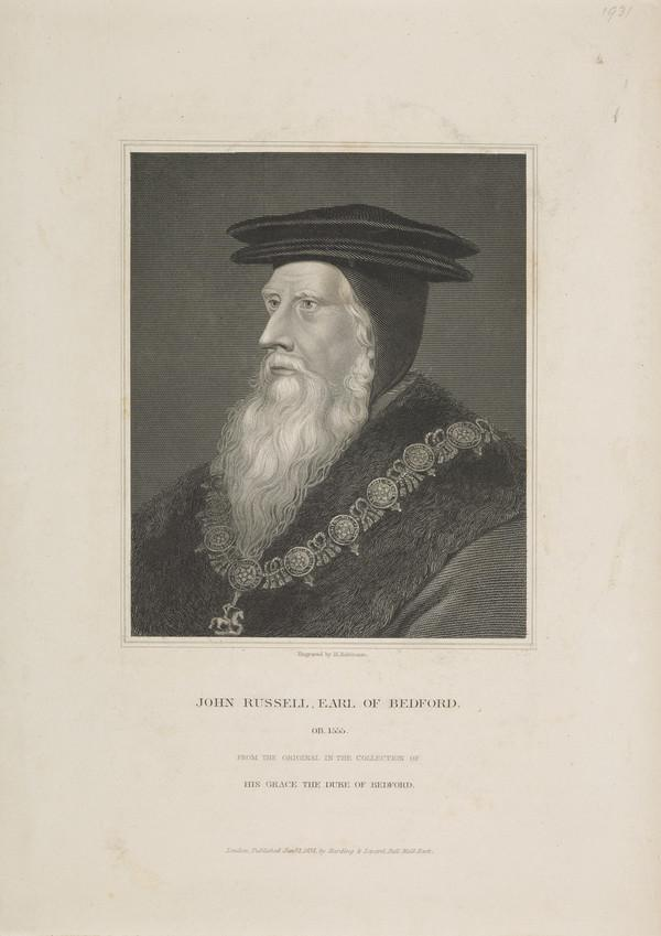 John Russell, 1st Earl of Bedford, 1486 (?) - 1555 (Published 1832)