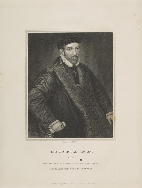 Sir Nicholas Bacon, 1509 - 1579. Lord Keeper (Published 1834)