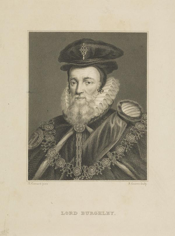 William Cecil, Lord Burghley, 1520 -1598. English Lord Treasurer