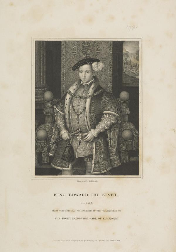 Edward VI, 1537 - 1553. King of England (1830)