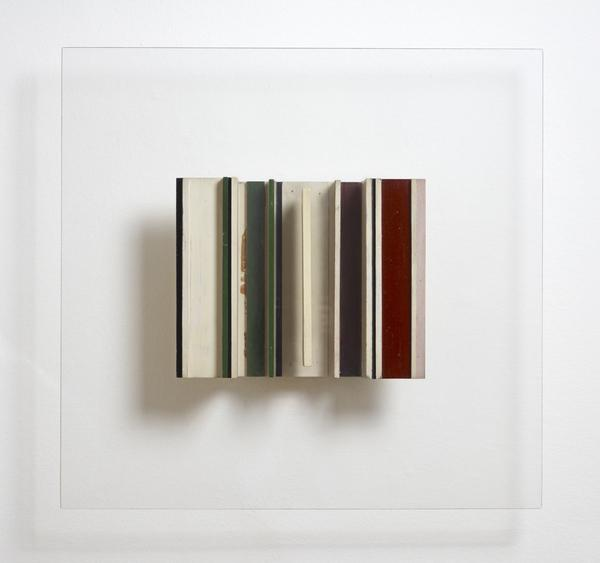 Transparent Relief Construction in White, Black, Green and Maroon (1960 - 1961)