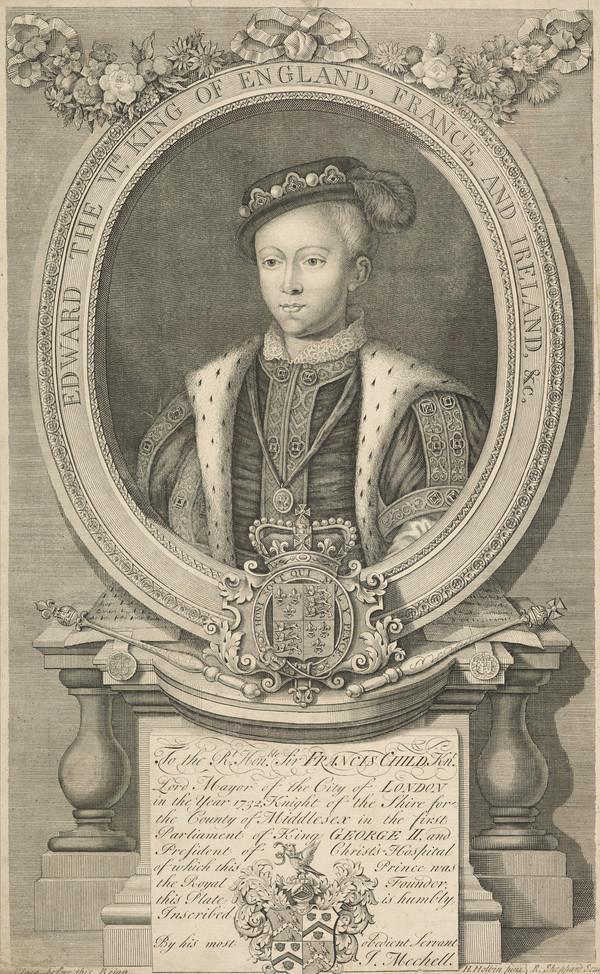 Edward VI, 1537 - 1553. King of England (1733)