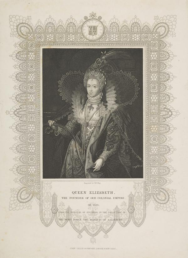 Elizabeth, Queen of England, 1533 - 1603. Reigned 1558 - 1603