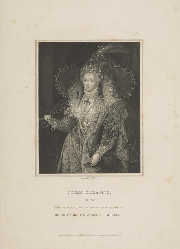 Elizabeth, Queen of England, 1533 - 1603. Reigned 1558 - 1603 (1832)