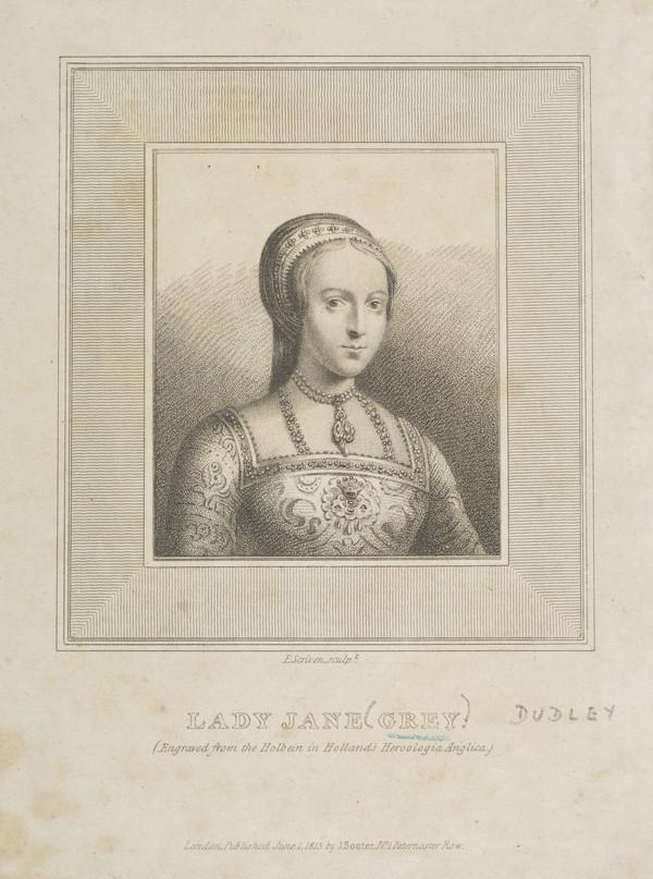 Lady Jane Dudley (known as Lady Jane Grey), 1537 - 1554 (Published 1815)