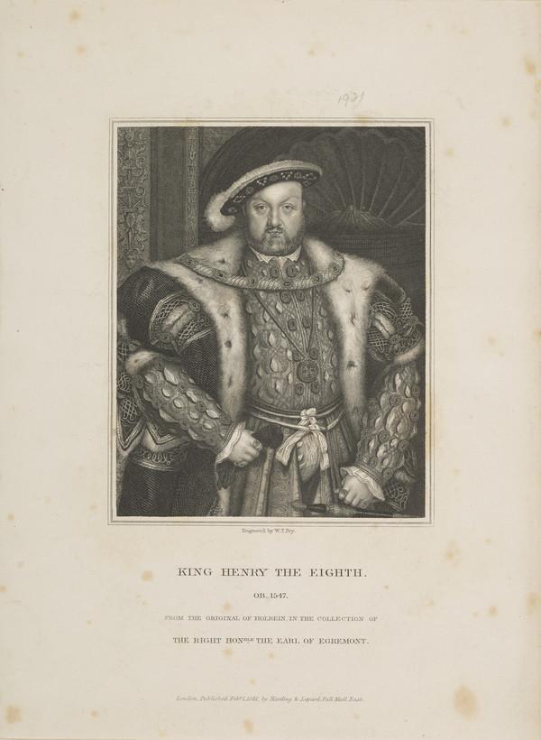 Henry VIII, 1491 - 1547. King of England