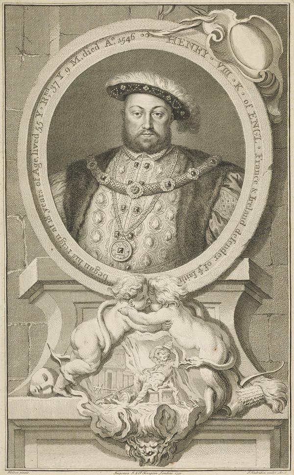 Henry VIII, 1491 - 1547. King of England (Published 1750)