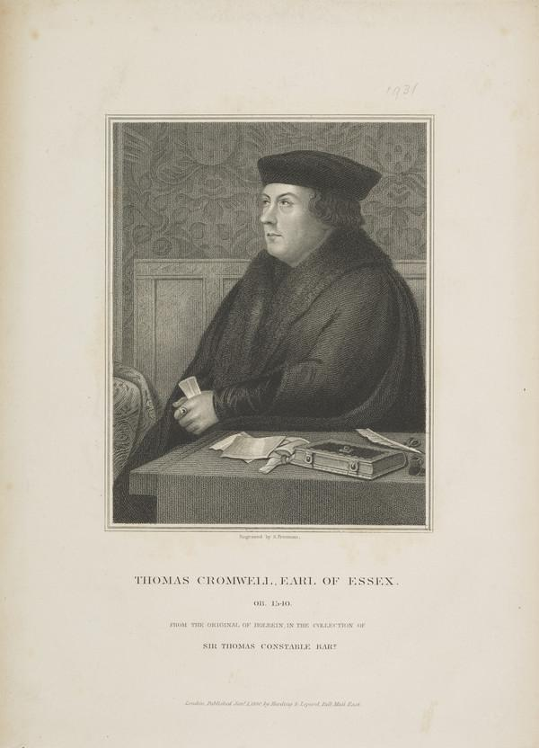 Thomas Cromwell, Earl of Essex, c 1485 - 1540. Minister of Henry VIII (Published 1830)