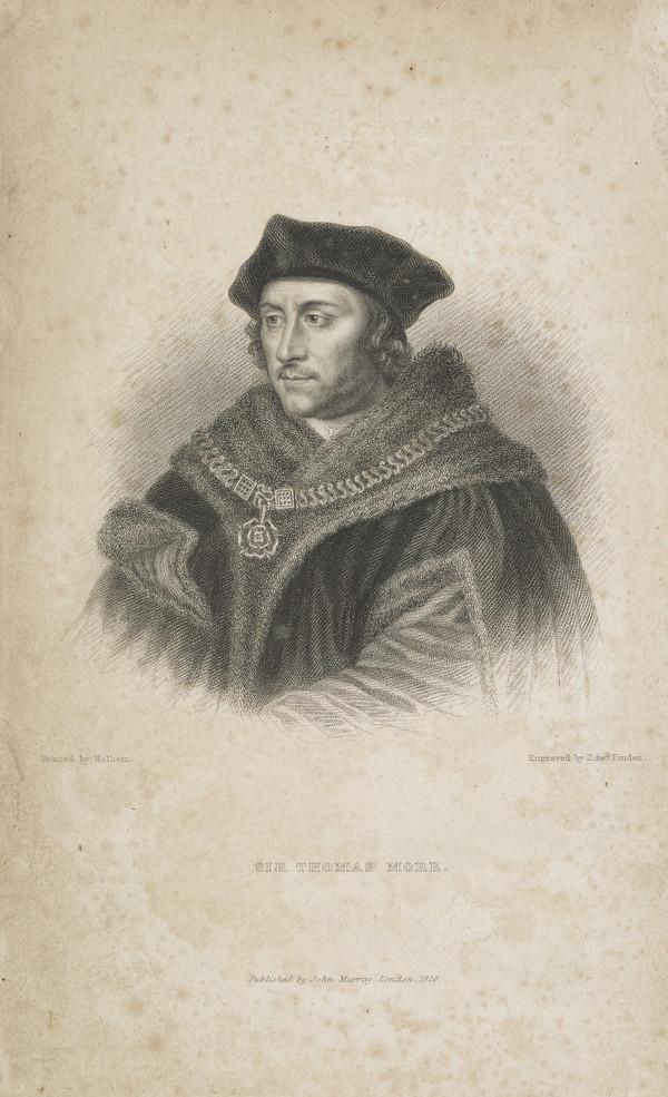 Sir Thomas More, 1478 - 1535. Lord Chancellor (Published 1829)