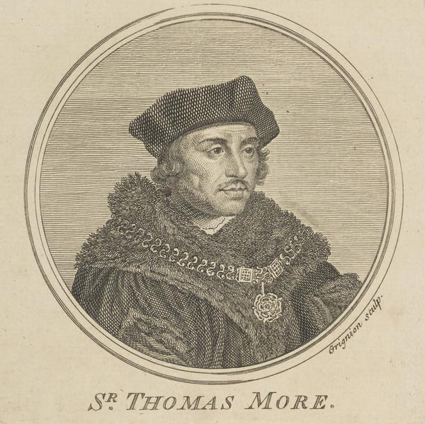 Sir Thomas More, 1478 - 1535. Lord Chancellor (Published 1757)