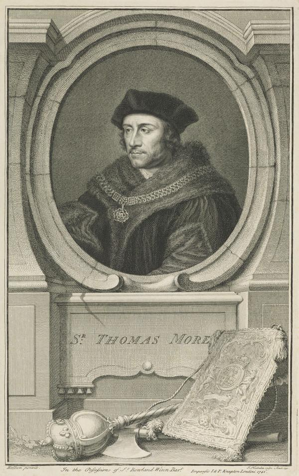 Sir Thomas More, 1478 - 1535. Lord Chancellor (Published 1741)