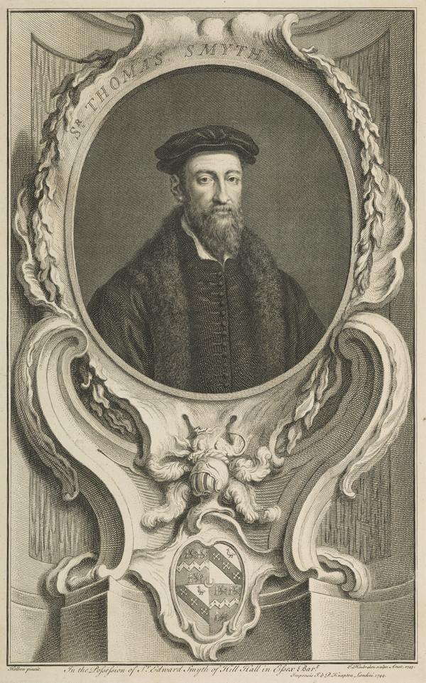 Sir Thomas Smyth, 1513 - 1577. Secretary of State and Diplomatist