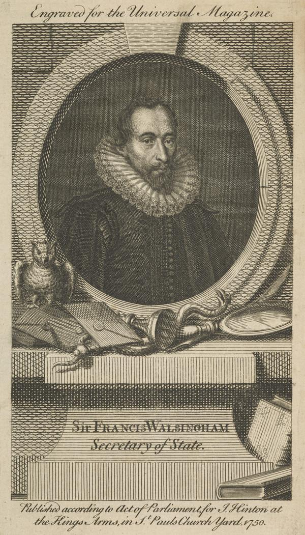 Sir Francis Walsingham, c 1530 - 1590. Secretary of State and diplomatist (Published 1750)