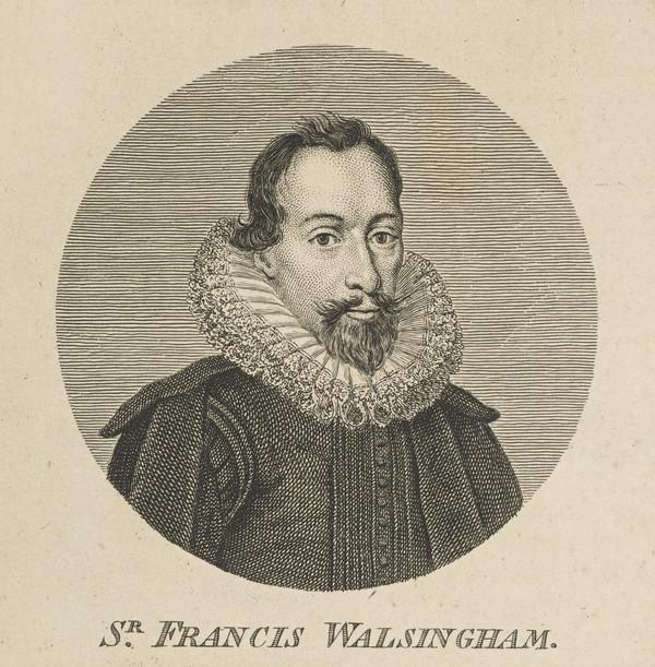 Sir Francis Walsingham, c 1530 - 1590. Secretary of State and diplomatist (Published 1757)