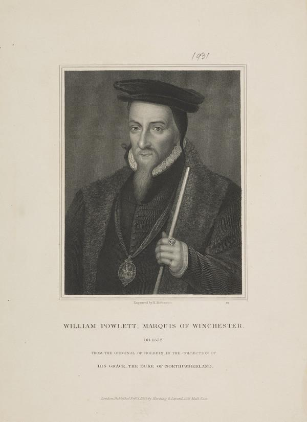 William Paulet, 1st Marquis of Winchester, c 1485 - 1572. Lord High Treasurer (Published 1833)