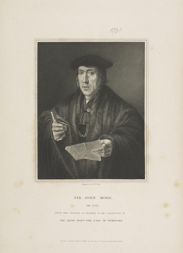 Sir John More, c 1453 - 1530. Judge; father of Sir Thomas More
