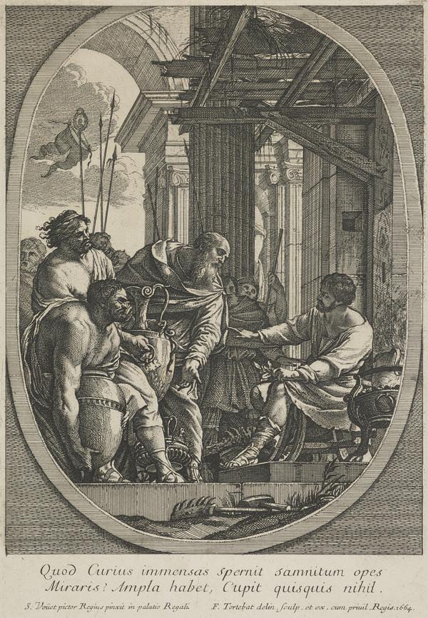 Manius Curius Dentatus refusing gifts from the ambassadors of the Samnites
