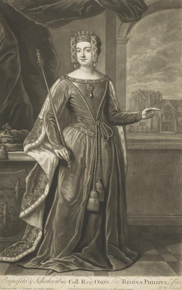Philippa of Hainault, c 1314 - 1369. Wife of Edward III