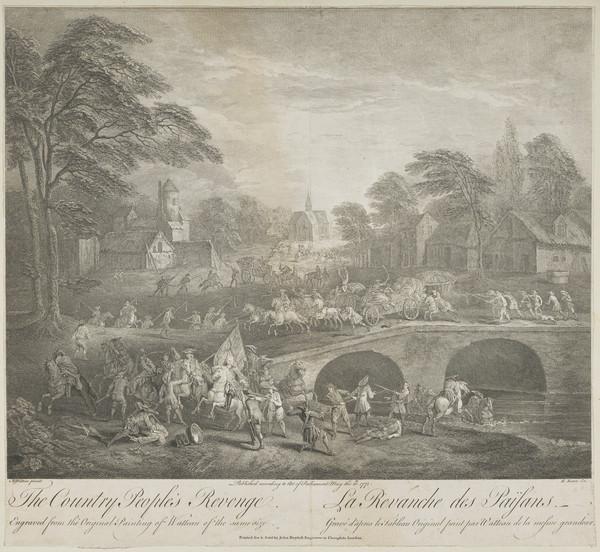 The country people's revenge; La revanche des paysans (1748)