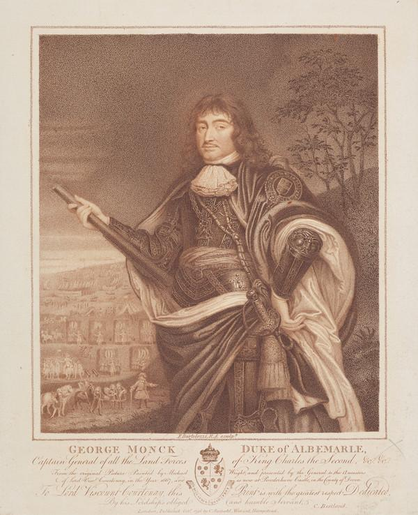 General George Monck, 1st Duke of Albemarle, 1608 - 1670. Soldier and statesman (Published 1796)