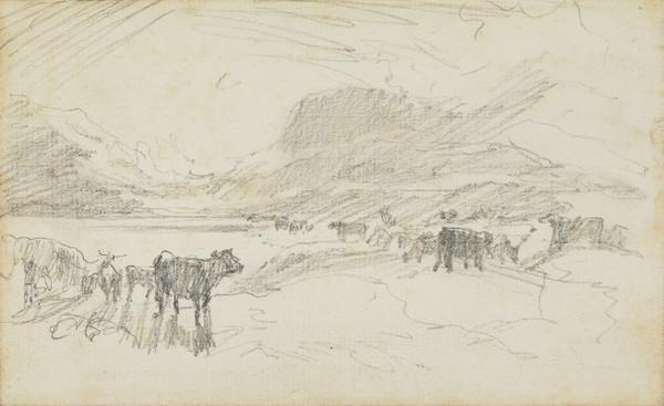 Lochside Scene with Cattle
