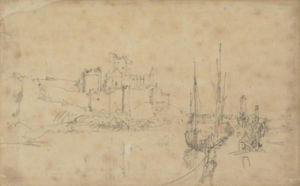 Scene with a Castle and Boats