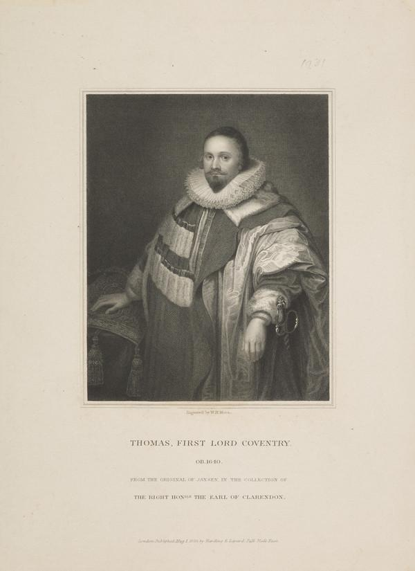 Thomas Coventry, 1st Baron Coventry, 1578 - 1640. Lord Keeper (1833)