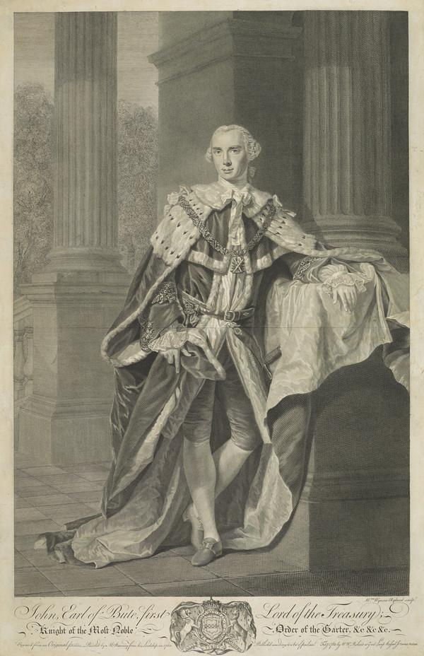 John Stuart, 3rd Earl of Bute, 1713 - 1792. Prime Minister (Published 1763)
