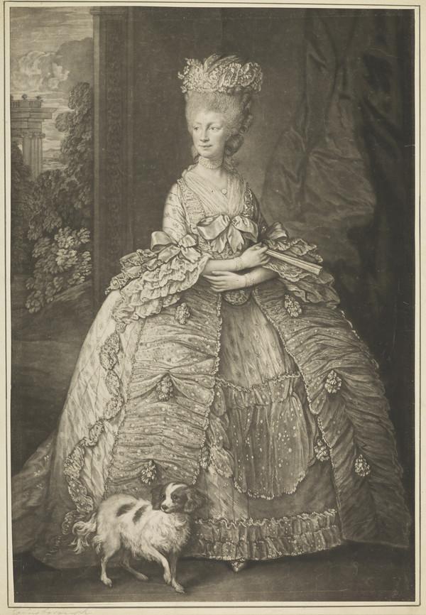 Queen Charlotte; Princess Sophia Charlotte of Mecklenburg-Strelitz, 1744 - 1818. Queen of George III (Published 1790)