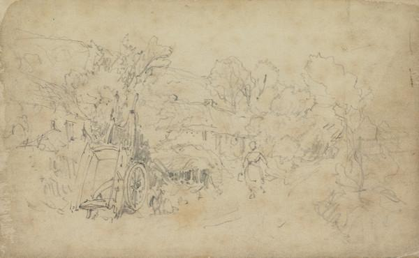 Rural Scene with an Upturned Cart