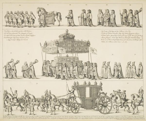Funeral Procession of John Leslie, 7th Earl and 1st Duke of Rothes, 1630 - 1681. Lord Chancellor