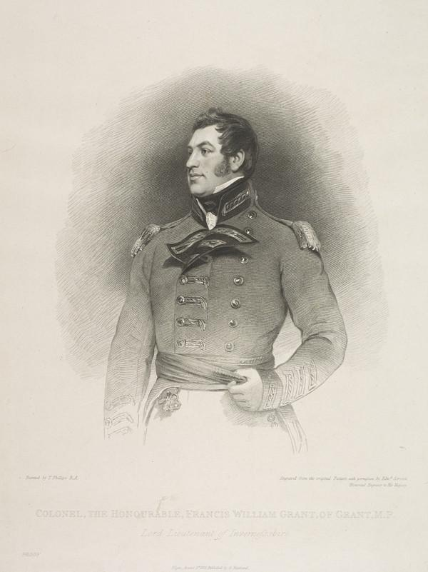 Francis William Grant, 6th Earl of Seafield, 1778 - 1853. Lord Lieutenant of Invernessshire