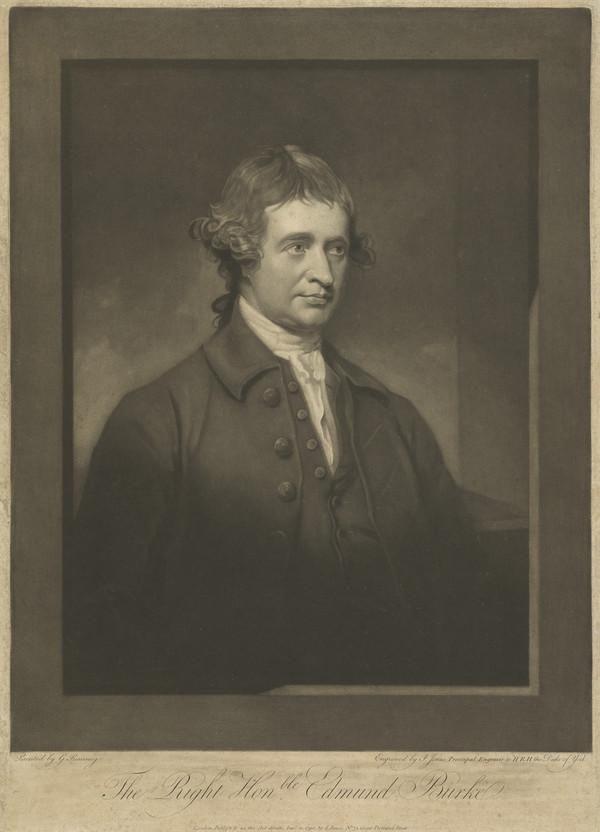 Edmund Burke, 1729 - 1797. Statesman, orator and author (1790)