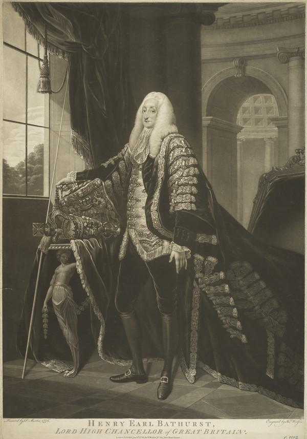 Henry, 2nd Earl Bathhurst, 1714 - 1794. Lord Chancellor (Published 1778)