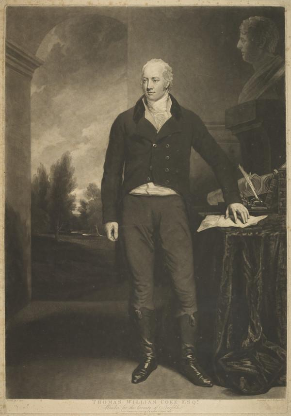 Thomas Coke, 1st Earl of Leicester, 1752 - 1842. Whig Politician (Published 1807)