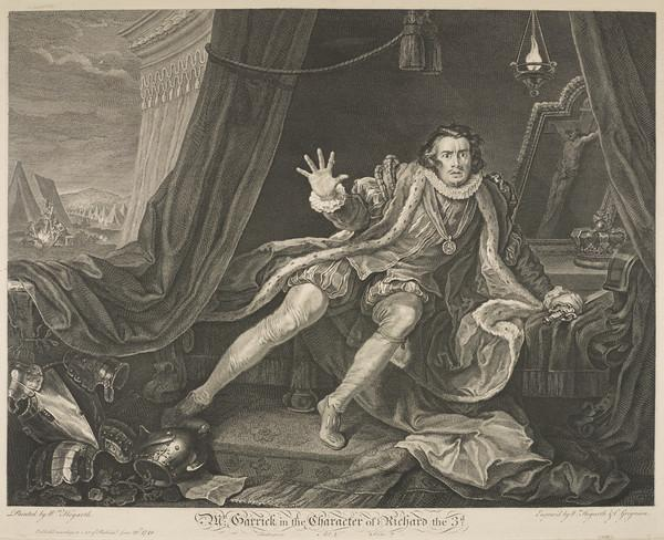 David Garrick, 1717 - 1779. Actor and dramatist (Published 1746)