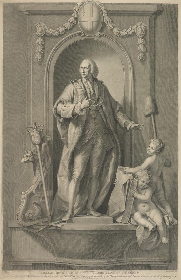 William Beckford, 1709 - 1770. Lord Mayor of London (Published 1772)