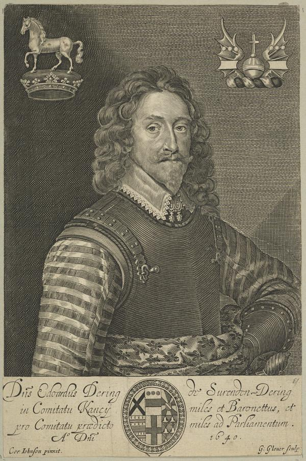 Sir Edward Dering, 1st Baronet Dering, 1598 - 1644. (Published 1640)