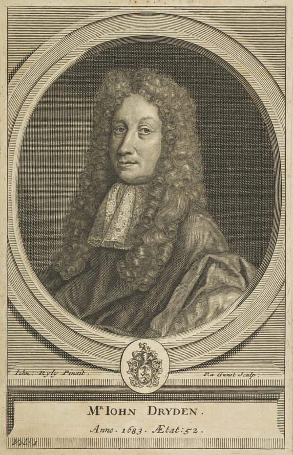 John Dryden, 1631 - 1700. Poet Laureate and dramatist (Published 1709)