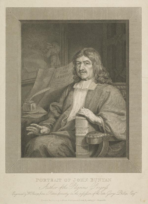 """John Bunyan, 1628 - 1688. Author of """"The Pilgrim's Progress"""" (Published 1819)"""
