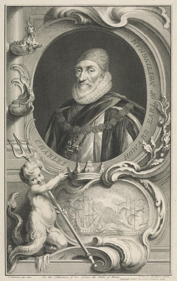 Charles Howard, 1st Earl of Nottingham, 1536 - 1624. Lord High Admiral (Published 1739)