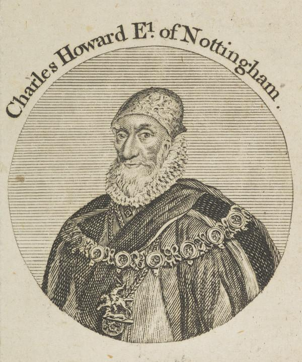 Charles Howard, 1st Earl of Nottingham, 1536 - 1624. Lord High Admiral