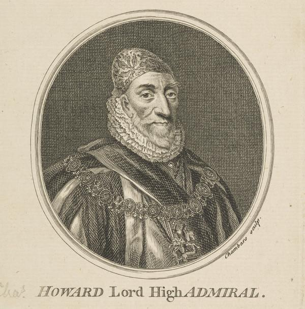 Charles Howard, 1st Earl of Nottingham, 1536 - 1624. Lord High Admiral (Published 1757)