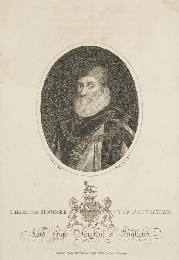 Charles Howard, 1st Earl of Nottingham, 1536 - 1624. Lord High Admiral (Published 1807)