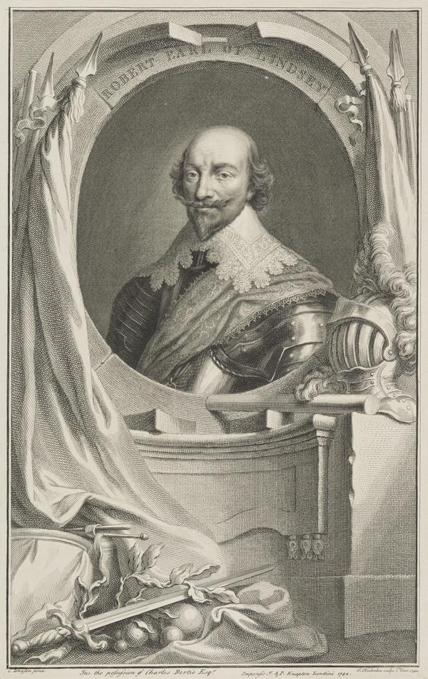 Robert Bertie, 1st Earl of Lindsey, 1582 - 1642. Royalist (1742)