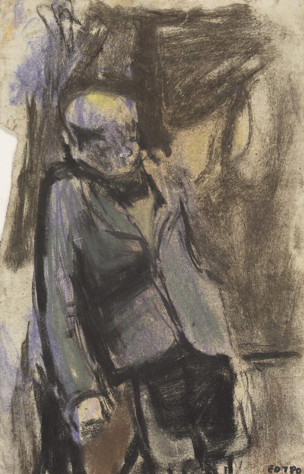 Boy in a Blazer, Leaning against a Wall