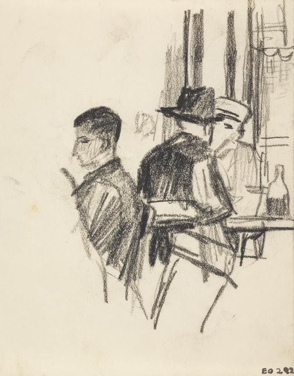 Three Men In a Cafe or Bar