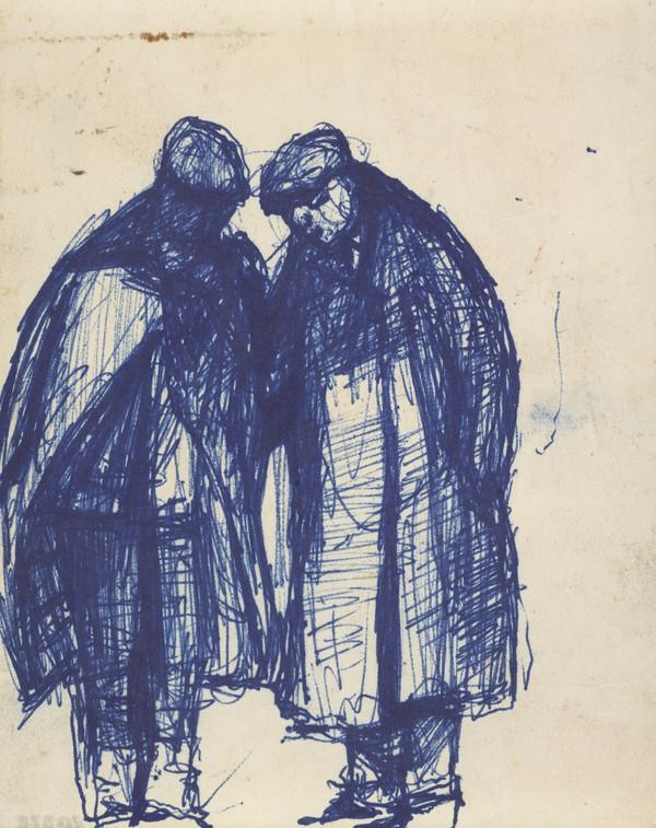 Two Men in Raincoats