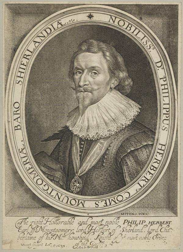Philip Herbert, 4th Earl of Pembroke and 1st Earl of Montgomery, 1584 - 1650. Lord Chamberlain of England