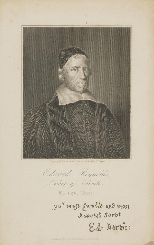 Edward Reynolds, 1599 - 1676. Bishop of Norwich